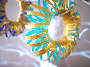 Toilet Paper Roll Wreath Ornaments