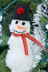 Pom Pom Snow Man Ornament