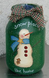 Snow place like home jar for All free holiday crafts