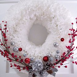 Winter Coffee Filter Wreath How to Make Wreaths