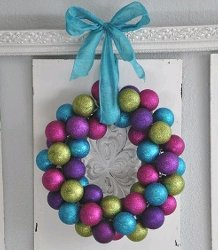 Colorful Ornament Wreath Video