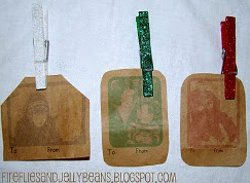 Glitter Clothespsin Gift Tags