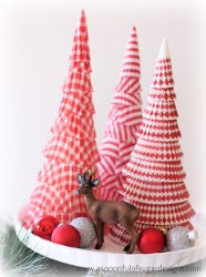 Cupcake Liner Cone Trees