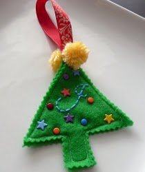 Monogrammed Felt Christmas Tree Ornament