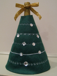 Holiday Tree Wine Bottle Cover