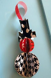 Stash Crafted Wrapping Paper Snowman Ornament