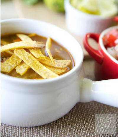 Copycat Cafe Rio Chicken Tortilla Soup