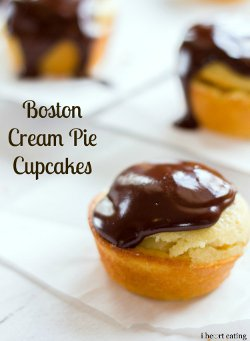 Cream Pie Cupcakes - If you love Boston Cream Pie donuts from classic ...