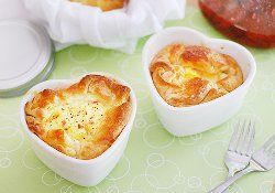 Homemade Panera Ham and Swiss Baked Egg Souffles