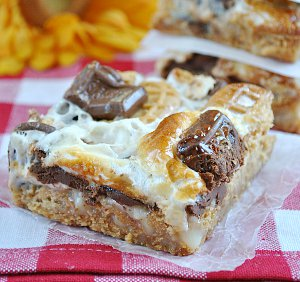 Nutter Butter S'mores Magic Cookie Bars