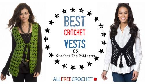 Beautiful Crochet Hippie Vest Pattern Adornment Easy Scarf