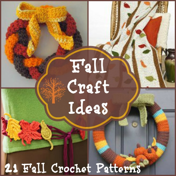 Fall Craft Ideas 21 Fall Crochet Patterns Allfreecrochetcom