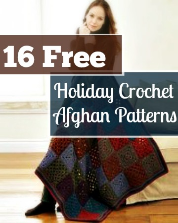 16 Free Holiday Crochet Afghan Patterns
