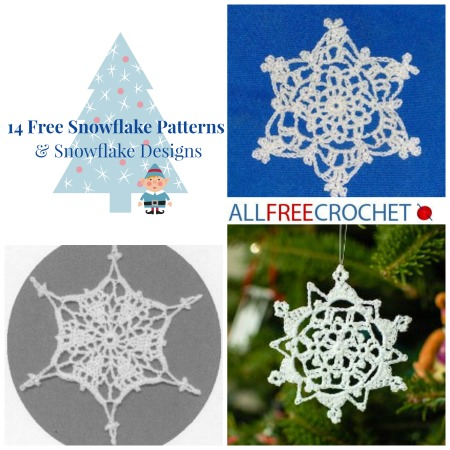 14 Free Snowflake Patterns Snowflake Designs Allfreecrochet