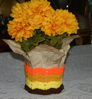 Autumn Plant Pot Cuff