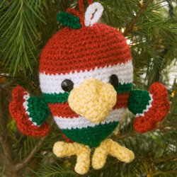 Adorable Holiday Bird Ornament