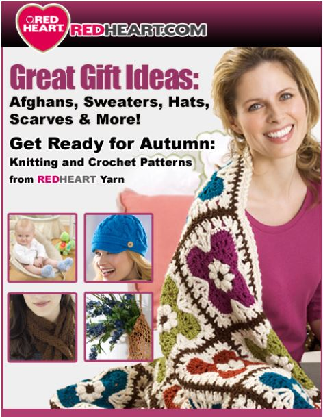 19 Crochet and Knitting Patterns from Red Heart Yarn
