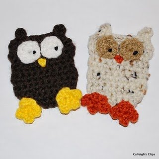 how to crochet owls: owl hat applique