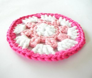 Pink and White Coasters