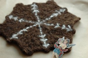Snowflake and Cookie Coaster