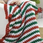 Holiday Stripes Afghan