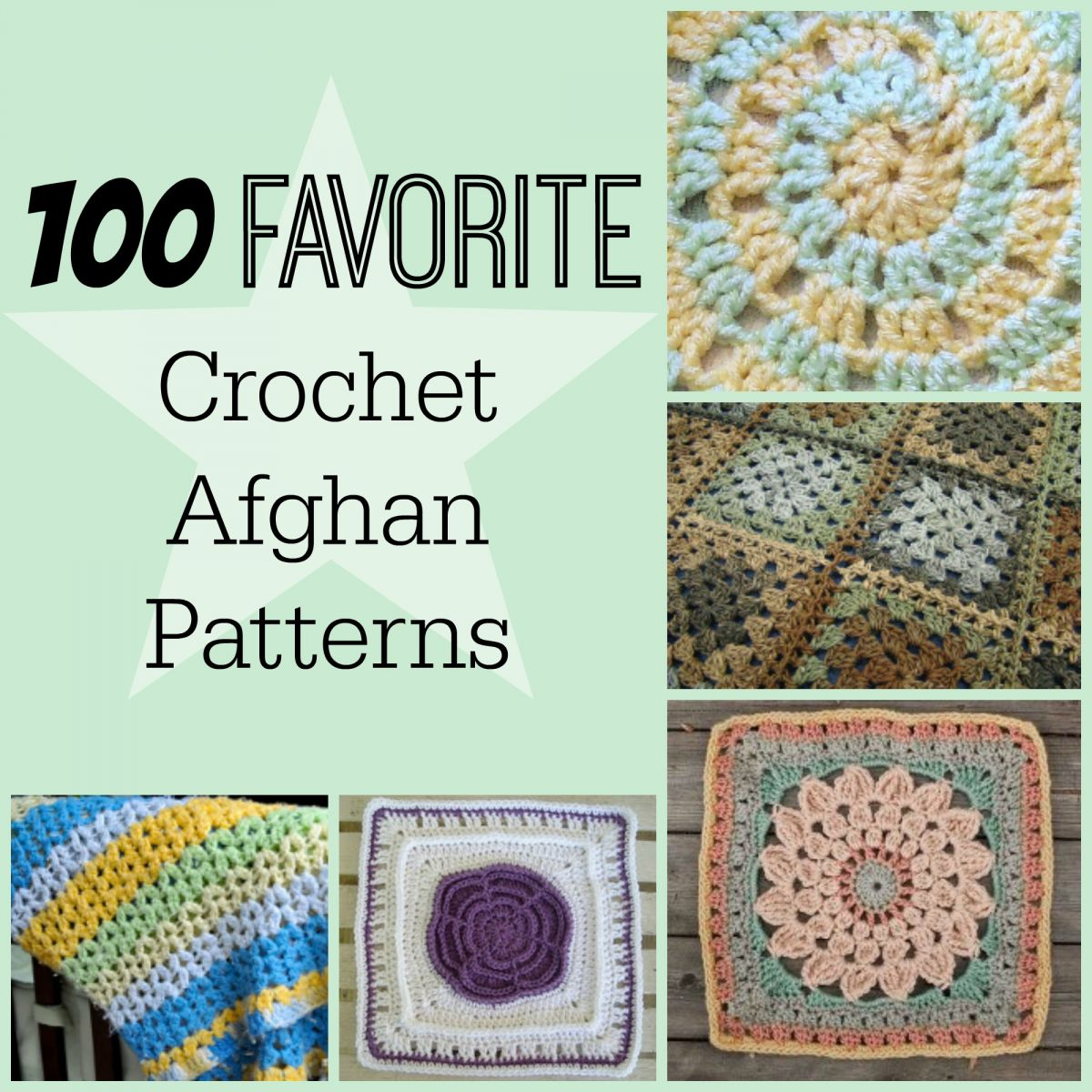 100 Favorite Crochet Afghan Patterns | AllFreeCrochetAfghanPatterns.com