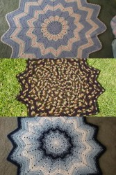 All Free Crochet Afghan Patterns : 12 Point Round Ripple AllFreeCrochetAfghanPatterns.com