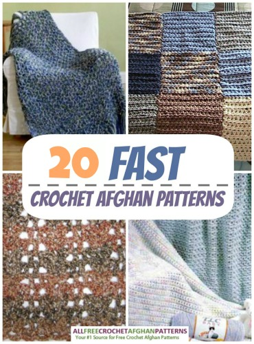 20 Fast Crochet Afghan Patterns