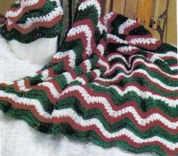 Christmas Ripple Afghan