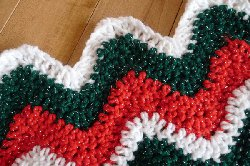 All Free Crochet Afghan Patterns : 75 Red and Green Christmas Crochet Afghans ...
