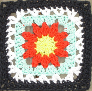 Julia's Crochet Flower Square
