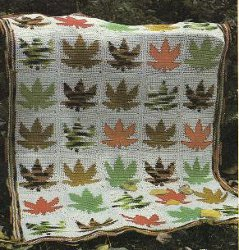 Maple Leaf Afghan Pattern