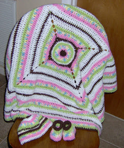 Neopolitan Striped Afghan