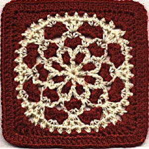 Red Velvet Crochet Granny Square