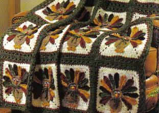 Thanksgiving Turkey Afghan Pattern