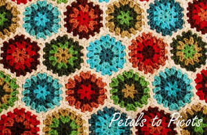 Vintage Vibe Crochet Hexagon Afghan