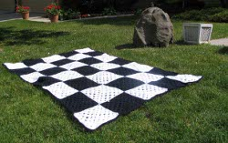 Checkered Race Flag Crochet Blanket