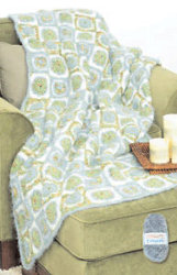 All Free Crochet Afghan Patterns : Crochet Circles in Squares Afghan ...