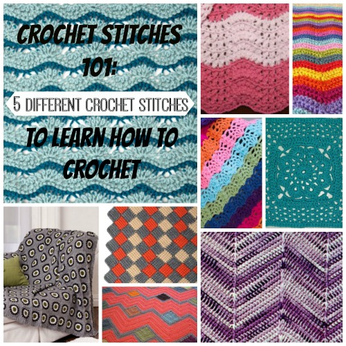 All Free Crochet Afghan Patterns : Crochet Stitches 101: 5 Different Crochet Stitches to ...