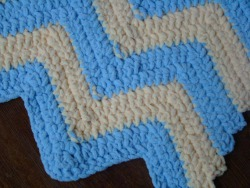Fluffly Striped Baby Blanket