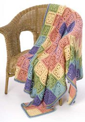 All Free Crochet Afghan Patterns : Sunscape Throw AllFreeCrochetAfghanPatterns.com