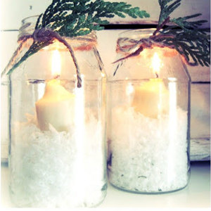 Elegant Winter Wedding Candles