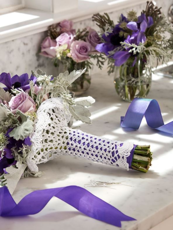 How To Wrap A Bouquet Crochet Pattern Allfreediyweddings