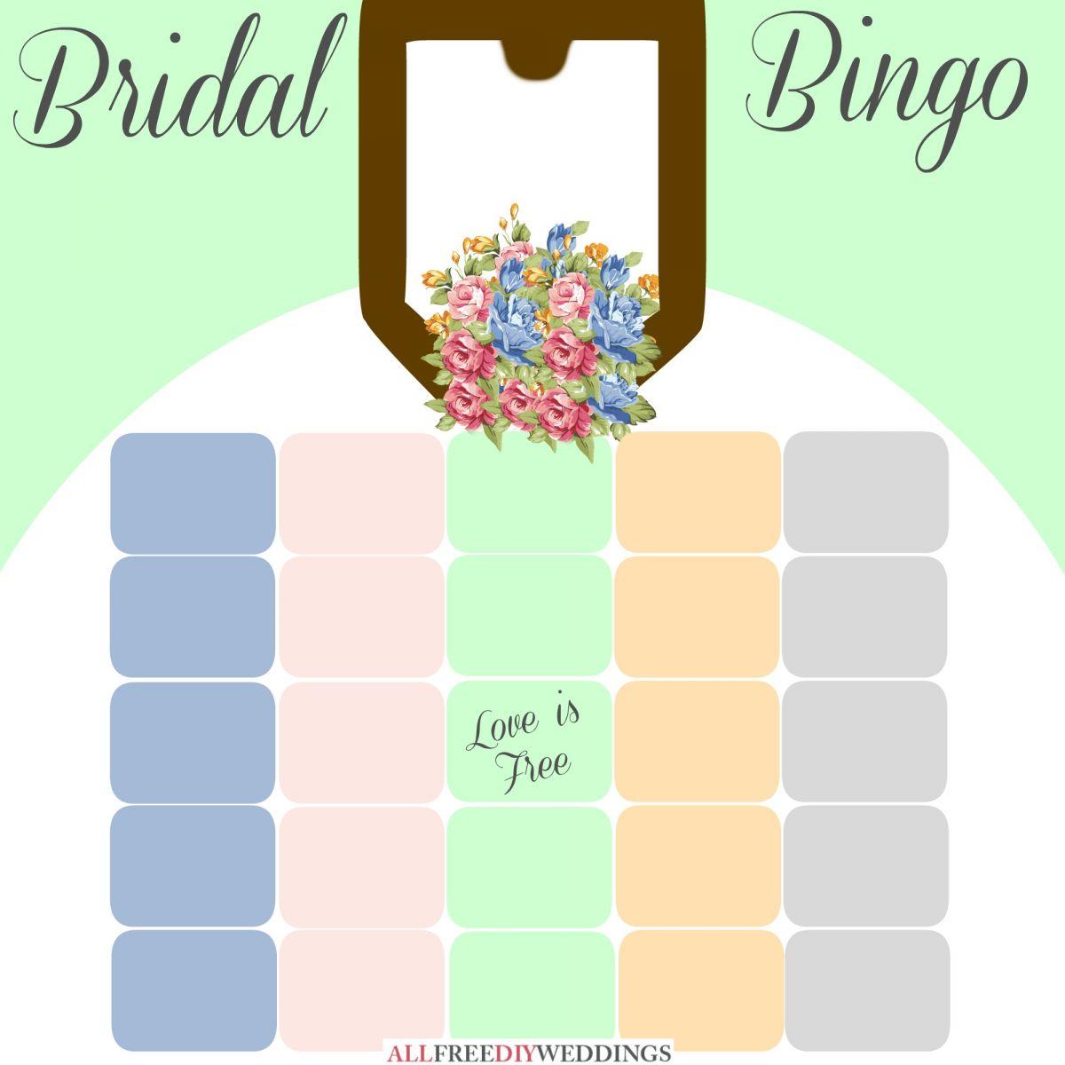 new bridal bingo free bridal shower games