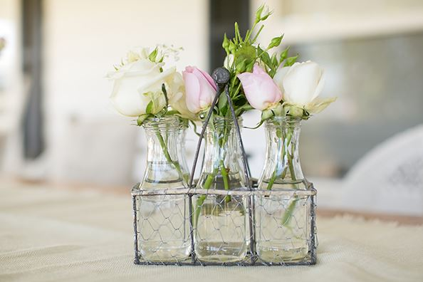 Darling Milk Carrier Rustic Wedding Centerpieces
