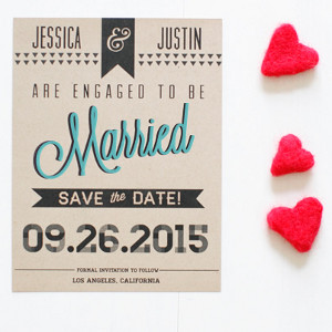 Sleek and Chic Free Printable Save the Date