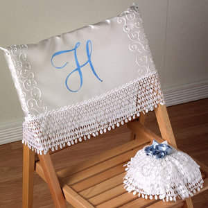 Vintage Wedding Chair and Pillow