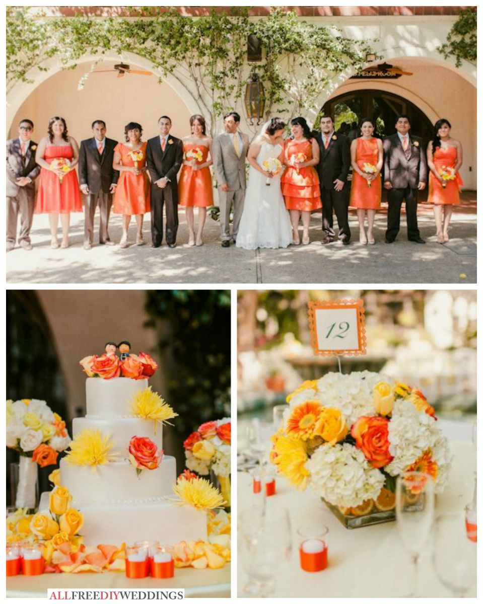 Wedding Color Schemes Yellow and Orange AllFreeDIYWeddingscom