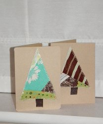 5 Minute Stitched Christmas Cards