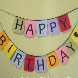 Fabric Birthday Banner
